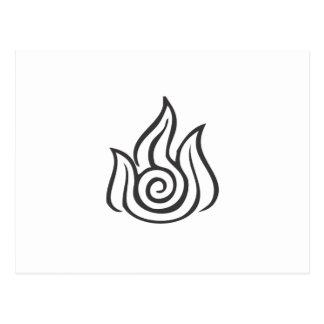 Símbolo de fuego tarjetas postales