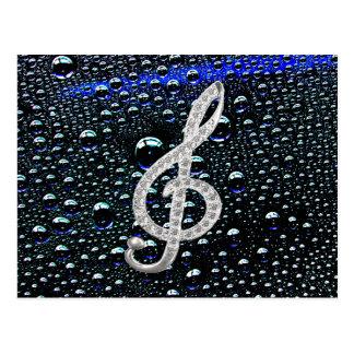 Símbolo de Gclef de la música Postales
