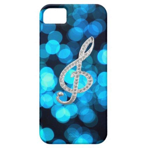 Símbolo de Gclef del piano iPhone 5 Carcasas
