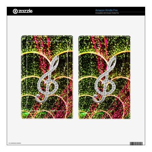 Símbolo de Gclef del piano Kindle Fire Skins