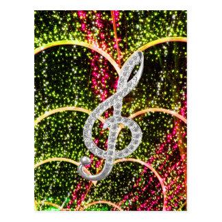 Símbolo de Gclef del piano Tarjetas Postales