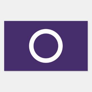 Símbolo de Japón de la prefectura de Gunma de la Pegatina Rectangular