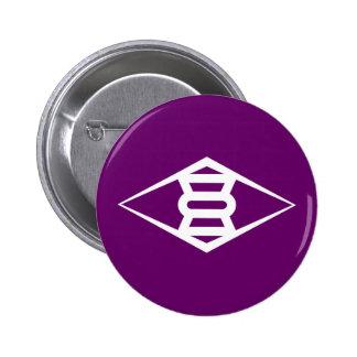 Símbolo de Japón de la prefectura de Gunma de la Pin Redondo De 2 Pulgadas