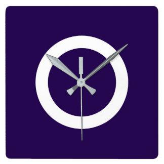 Símbolo de Japón de la prefectura de Gunma de la Reloj Cuadrado