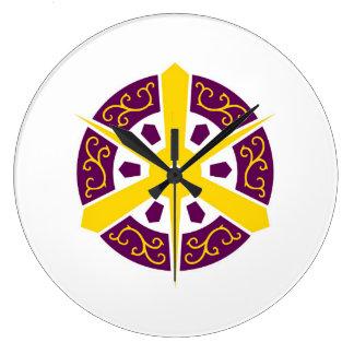 Símbolo de Japón de la prefectura de Kyoto de la Reloj Redondo Grande