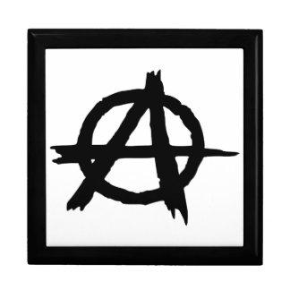 Símbolo de la anarquía cajas de joyas