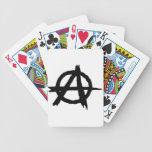 Símbolo de la anarquía cartas de juego