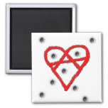 Símbolo de la anarquía del amor imán de frigorifico