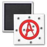 Símbolo de la anarquía iman de nevera