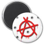 Símbolo de la anarquía iman para frigorífico