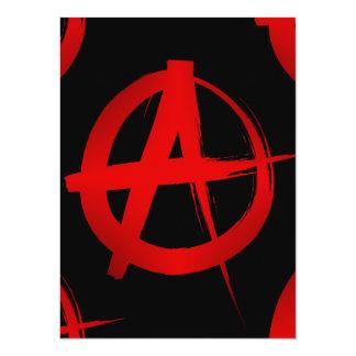 """Símbolo de la anarquía invitación 5.5"""" x 7.5"""""""