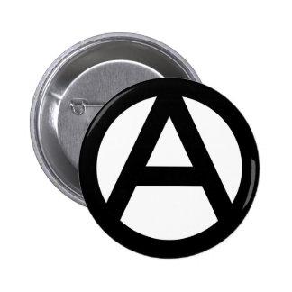 Símbolo de la anarquía pin redondo 5 cm