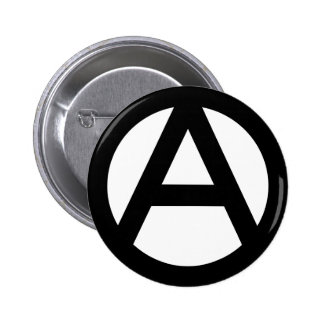 Símbolo de la anarquía pin redondo de 2 pulgadas