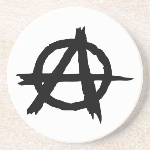 Símbolo de la anarquía posavasos personalizados
