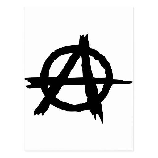 Símbolo de la anarquía postales
