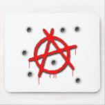 Símbolo de la anarquía tapete de raton