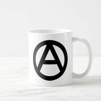 Símbolo de la anarquía taza de café