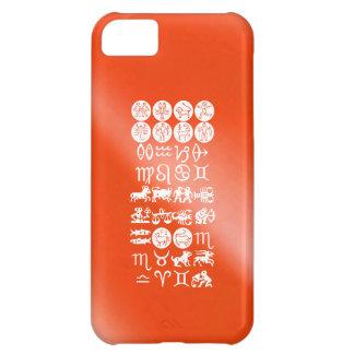 Símbolo de la astrología del zodiaco: Encanto de B Funda iPhone 5C