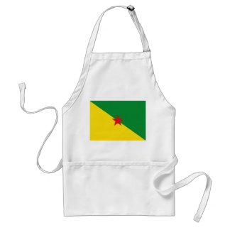 símbolo de la bandera de país de la Guayana Delantal