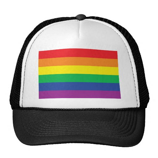 Símbolo de la bandera del orgullo gay de la libert gorras
