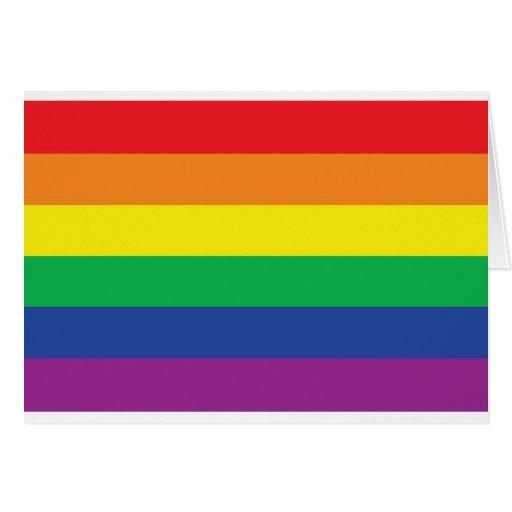 Símbolo de la bandera del orgullo gay de la libert tarjetón