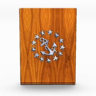 Símbolo de la bandera del yate en la impresión de