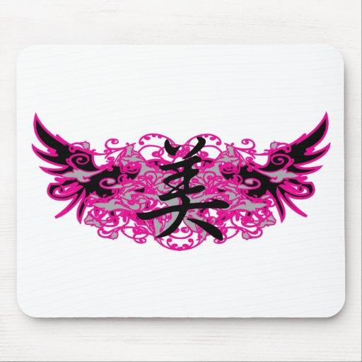 Símbolo de la belleza y diseño Mousepad del tatuaj Alfombrillas De Raton