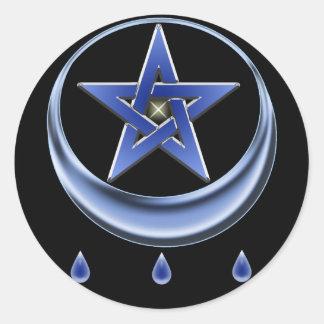 Símbolo de la bendición y pegatina del Pentagram