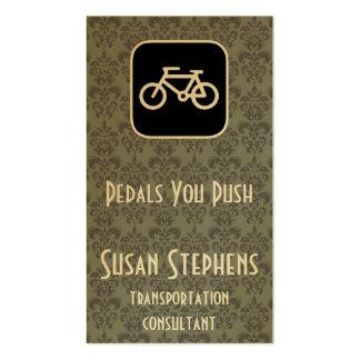 Símbolo de la bici tarjetas de visita
