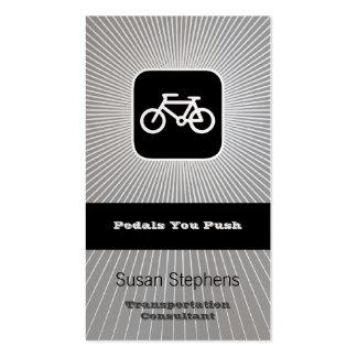 Símbolo de la bicicleta tarjetas de visita