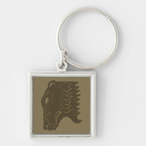 Símbolo de la cabeza del oso de BEORN™ Llavero Cuadrado Plateado