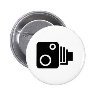 Símbolo de la cámara de la velocidad pin redondo de 2 pulgadas