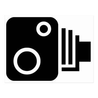 Símbolo de la cámara de la velocidad postal