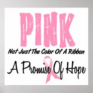 Símbolo de la cinta del rosa del cáncer de pecho d impresiones