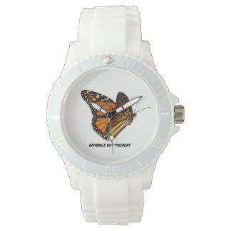 Símbolo de la conciencia de la mariposa relojes