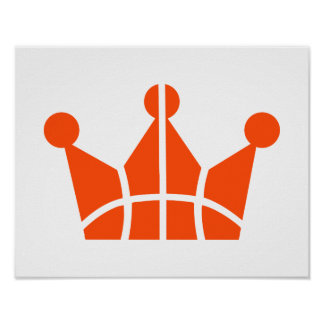 Símbolo de la corona del baloncesto posters