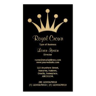 Símbolo de la corona - negro (oro) tarjetas de visita