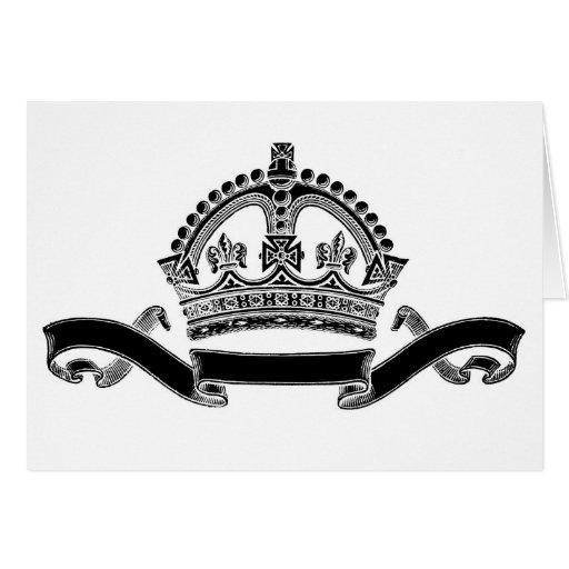 Símbolo de la corona y de la voluta felicitacion