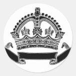 Símbolo de la corona y de la voluta pegatinas