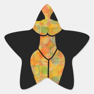 Símbolo de la diosa de Wiccan Pegatina En Forma De Estrella