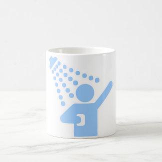 Símbolo de la ducha taza