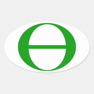 Símbolo de la ecología pegatina ovalada