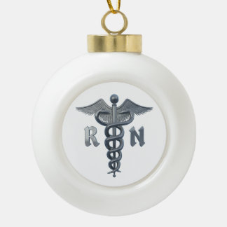 Símbolo de la enfermera registradoa adorno de cerámica en forma de bola