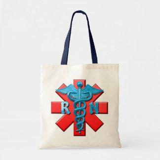 Símbolo de la enfermera registradoa bolsa de mano