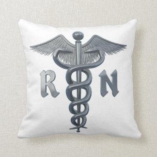 Símbolo de la enfermera registradoa cojines