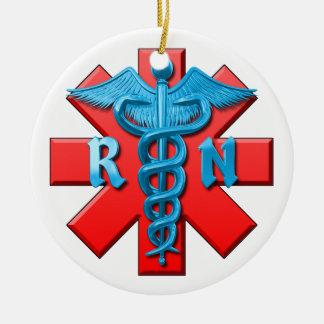 Símbolo de la enfermera registradoa adornos de navidad