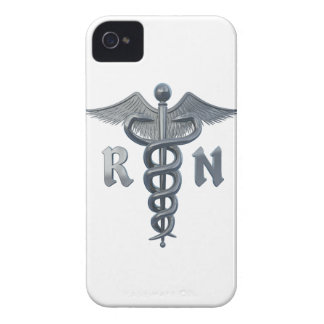 Símbolo de la enfermera registradoa Case-Mate iPhone 4 protectores