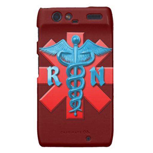 Símbolo de la enfermera registradoa droid RAZR fundas