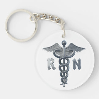 Símbolo de la enfermera registradoa llavero