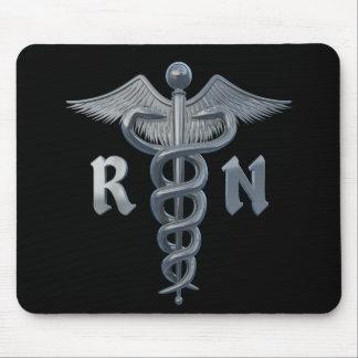 Símbolo de la enfermera registradoa mouse pad